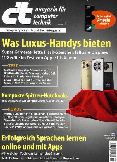 Zeitschrift c t magazin für computertechnik abonnement mit prämie